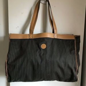 FENDI Vintage XL Fabric Tote Bag